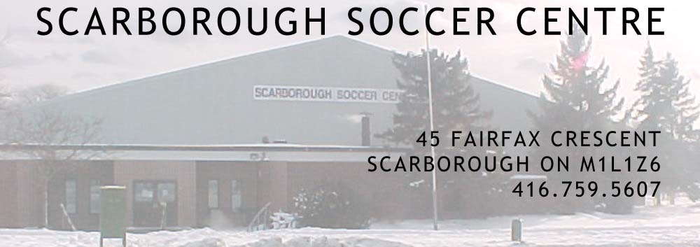 Scarborough Soccer Centre – Fairfax Crescent – Scarborough Ontario – Serving the GTA and Toronto Logo