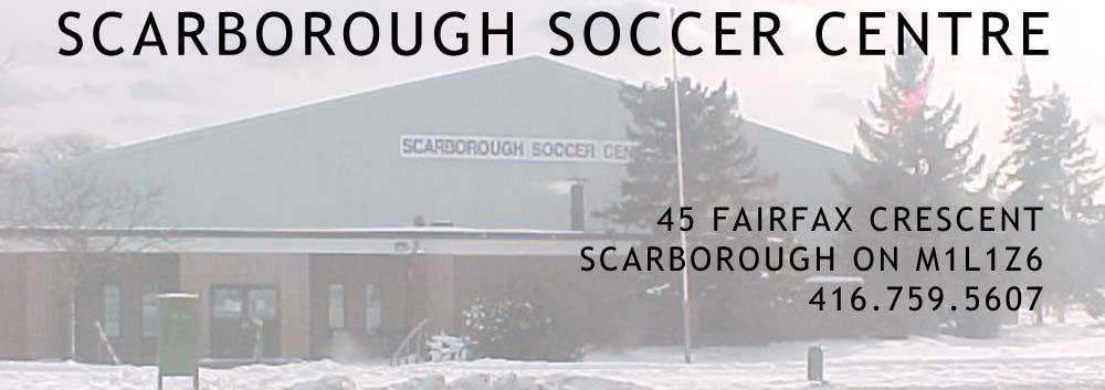 Scarborough Soccer Centre – Fairfax Crescent – Scarborough Ontario – Serving the GTA and Toronto Logo